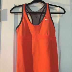 Nike women's orange athletic tank M